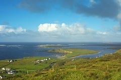 Irish landscape at sunset - dingle peninsula Stock Photos