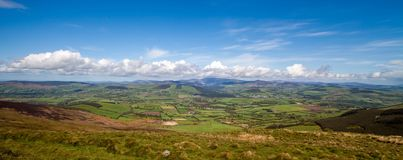 Irish landscape. A view over a green Irish landscape Stock Images