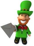 Irish leprechaun. Fun Irish leprechaun, 3d generated Royalty Free Stock Photos