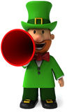 Irish leprechaun. Fun Irish leprechaun, 3d generated Royalty Free Stock Photography