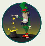 Irish leprechaun with gold. Stock Image