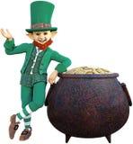 Irish Leprechaun, Got Pot, Isolated Stock Photography
