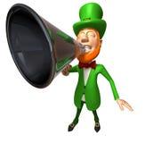 Irish leprechaun with a megaphone Stock Images