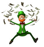 Irish leprechaun with money Stock Image
