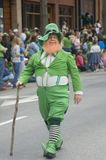 Irish Leprechaun in parade Royalty Free Stock Photography