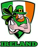 Irish leprechaun rugby player Royalty Free Stock Photos