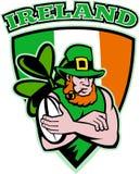 Irish leprechaun rugby player Stock Images