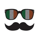 Irish man with glasses and moustache Royalty Free Stock Photography