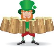 Irish man greeting with mugs Royalty Free Stock Images