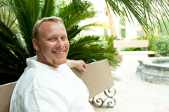Irish Man in Tropical Area Royalty Free Stock Photos