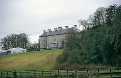 Irish Manor. A manor house in the Irish countryside stock image