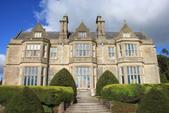 Irish manor house. A Irish manor house with blue cloudy sky Stock Photo