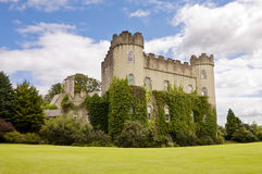 Irish medieval castle - rear view. Royalty Free Stock Photos