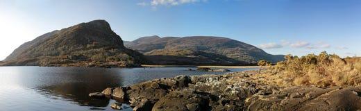 Irish mountains pano. Killarney lake and mountains - Co. Kerry - Ireland Stock Photos