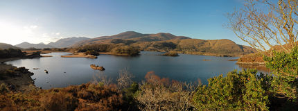 Irish mountains panoramic Royalty Free Stock Images
