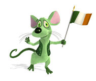 Irish Mouse with Flag Stock Photos