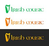 Irish Music Logotype Royalty Free Stock Image