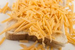 Irish red cheddar grated cheese with reduced fat. Irish organic red cheddar grated cheese with reduced fat stock photos