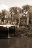 Irish Ornamental gate lodge and bridge Royalty Free Stock Photo