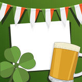 Irish party card Royalty Free Stock Photos