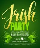 Irish Party Poster. St. Patricks Day. Vector illustration Stock Photos