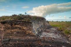 Irish Peat Bog landscape. Background royalty free stock image