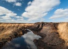 Irish peat Bog landscape Royalty Free Stock Photos