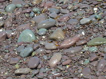 Irish pebbles. Pebbles on beach of Irish Sea Atlantic Ocean at Waterville, Ireland. Viewed on tour of Ring of Kerry Royalty Free Stock Image