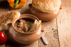 Irish pie with meat and vegetables Royalty Free Stock Photos