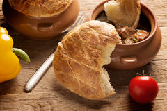 Irish pie with meat and vegetables Stock Image