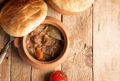 Irish pie with meat and vegetables Stock Photo