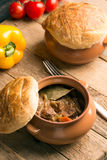 Irish pie with meat and vegetables Stock Photography