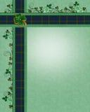 Irish plaid borders template stock image