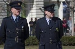 Irish policemen, Budapest, Hungary Stock Image