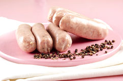 Irish pork and black pepper sausages Royalty Free Stock Images