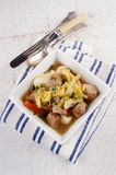 Irish pork stew in a bowl Stock Photos