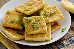 Irish potato bread. Irish traditional potato bread with green onion royalty free stock image