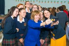 Irish Presidential Candidate Senator Joan Freeman stock photography