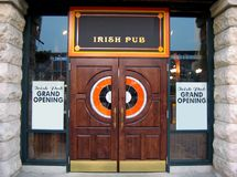 Irish Pub. The entrance of a generic Irish pub Stock Photography