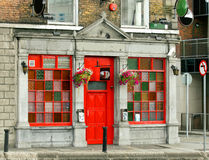 Irish pub. Colorful Irish pub in Dublin Stock Image
