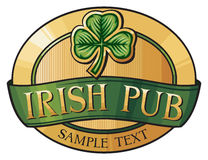 Irish pub. Saint patrick, irish pub label design Royalty Free Stock Images