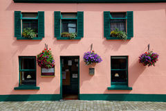 Irish Pub. A typical Irish pub and restaurant in the town of Barna, near Galway stock photo