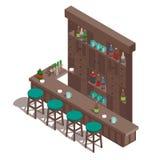 Irish pub bar. Isometric irish pub bar vector illustration stock illustration