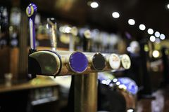 Irish pub with beer surtidor.  Royalty Free Stock Photo