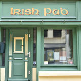 Irish pub, frontal view. Stock Photography