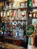Irish Pub Liquor Spirits Bottles Beer Tap Stock Photography
