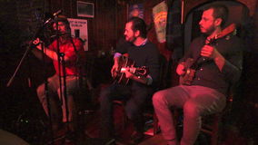 Irish Pub Music Band stock footage