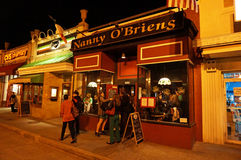 Irish Pub at Night on Saint Patrick's Day Royalty Free Stock Image