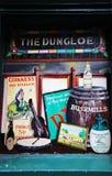 Irish Pub painted window Stock Photos