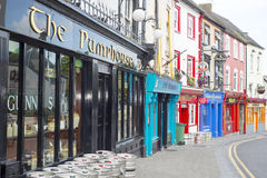 Irish pubs and retaurant fronts Royalty Free Stock Photos